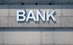 Modern Bank Building Signage Stock Illustration