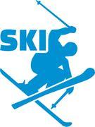 Skier freestyle Stock Illustration
