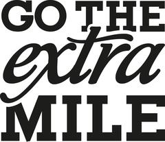Go the extra mile - motivational saying Stock Illustration