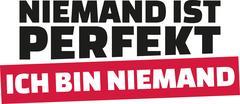 Novody is perfect. I am nobody. German statement. Stock Illustration