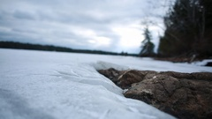 Frozen Pond Time Lapse Stock Footage