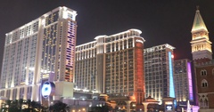 Cotai Strip Casino Stock Footage