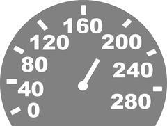 Grey speed indicator Stock Illustration