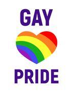 Vector gay pride LGBT rights card Stock Illustration