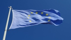 The European Union (EU) Flag Stock Footage