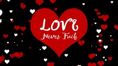 Love Never Fails Text Background Stock Footage