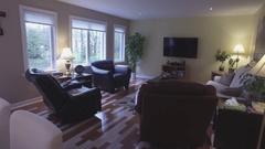 Real estate living room tv room 4k Stock Footage