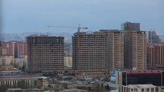 New Building Under Construction In Baku, Azerbaijan Stock Footage