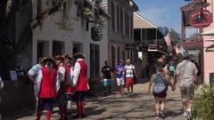 Historic St George Street, St Augustine, Florida, USA Stock Footage