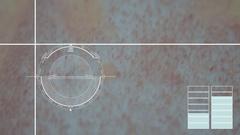 Virus, bacteria, microbe. HUD Futuristic medical background Stock Footage