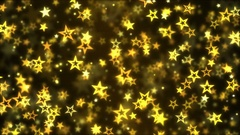Falling Star Shapes Background Animation - Loop Golden Stock Footage