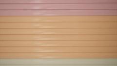 Close up orange metal door shutter store Arkistovideo