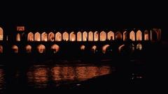 Khaju Bridge Isfahan Stock Footage