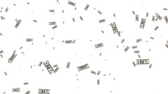 Dollars flying in the air Stock Footage