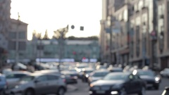 Busy Traffic Of Cars In The City Stock Footage