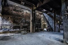 Abandoned building factory foundry Stock Photos