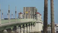 Raised drawbridge, Bridge of Lions, St Augustine, Florida, USA Stock Footage