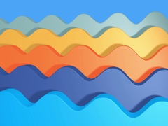 Seamless looping animated wave background Stock Footage