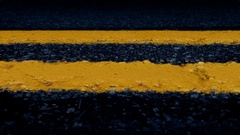 Moving Past Road Lines Closeup Arkistovideo
