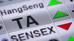The TA-25 Index of the Tel Aviv Stock Exchange. Up. Looping. Stock Footage