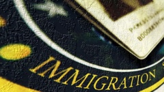 Immigration grunge concept Stock Footage