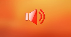 Audio Volume Red 3d Icon Stock Footage