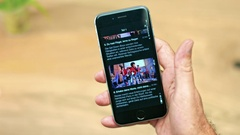 Netflix App on Apple iPhone 6 Stock Footage