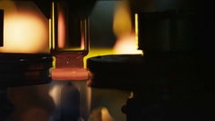 Making of a glass ampoule at the glass-blowing plant Stock Footage