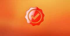Approve Verified Red 3d Icon Stock Footage