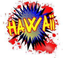 Hawaii Comic Exclamation Piirros