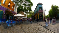 Historic architecture in La Boca Stock Footage