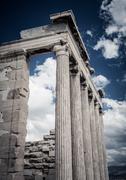 Erechtheion in Acropolis, Athens - Greece Stock Photos