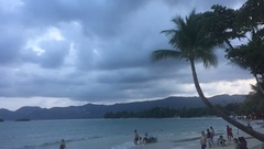 Storm on the island of Koh Samui in Thailand Stock Footage