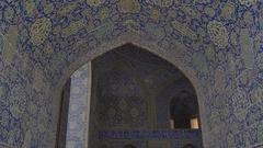 Shah Mosque interior Stock Footage