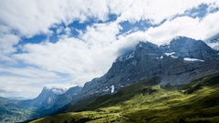 Eiger in Bernese Oberland in Switzerland - Time Lapse Video Stock Footage