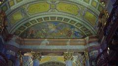 VIENNA, AUSTRIA Steadicam interior shot of Austrian National Stock Footage