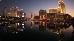 The Venetian time lapse Stock Footage