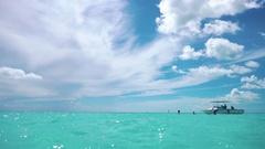 Cuba. The coast of the Caribbean Sea. Cayo Largo. Beach Stock Footage