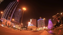 Grand Lisboa Tower and Dome Stock Footage