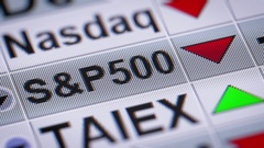 The Standard & Poor's 500 is an American stock market index. Down. Looping. Stock Footage