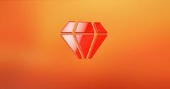 Diamond Gem Red 3d Icon Stock Footage