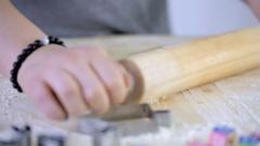 Step by Step. Time-lapse. Making homemade gluten free sugar Hanukkah cookies. Stock Footage