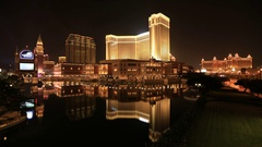 Cotai Strip Casinos Stock Footage