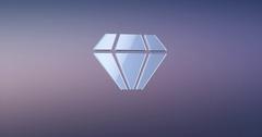 Diamond Gem Silver 3d Icon Stock Footage