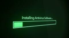 Installing Antivirus Software - Digital Progress Bar Stock Footage