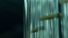 Glass workpieces at the glass-blowing factory Stock Footage
