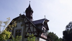 Half-timbered House in Germany Stock Footage