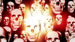 Skulls color overlay pulse looping animated background Stock Footage