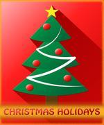 Christmas Holidays Shows Xmas Season 3d Illustration Stock Illustration