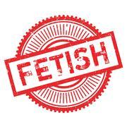 Fetish stamp rubber grunge Stock Illustration